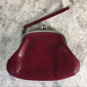 HOBO Rare Red Kisslock Wristlet